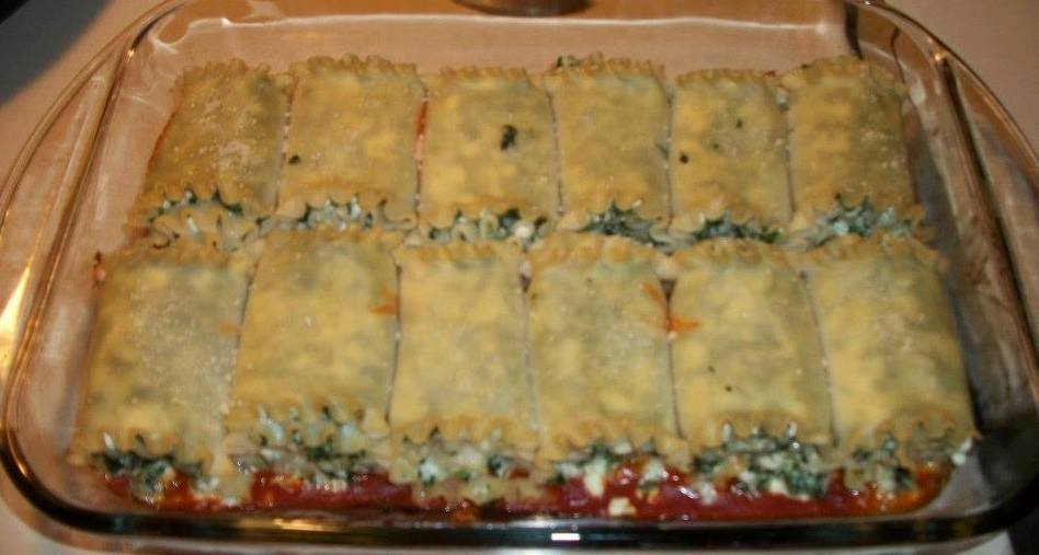 Spinach Lasagna Roulade