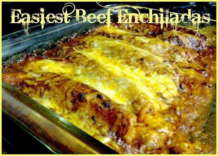 Easiest Beef Enchiladas